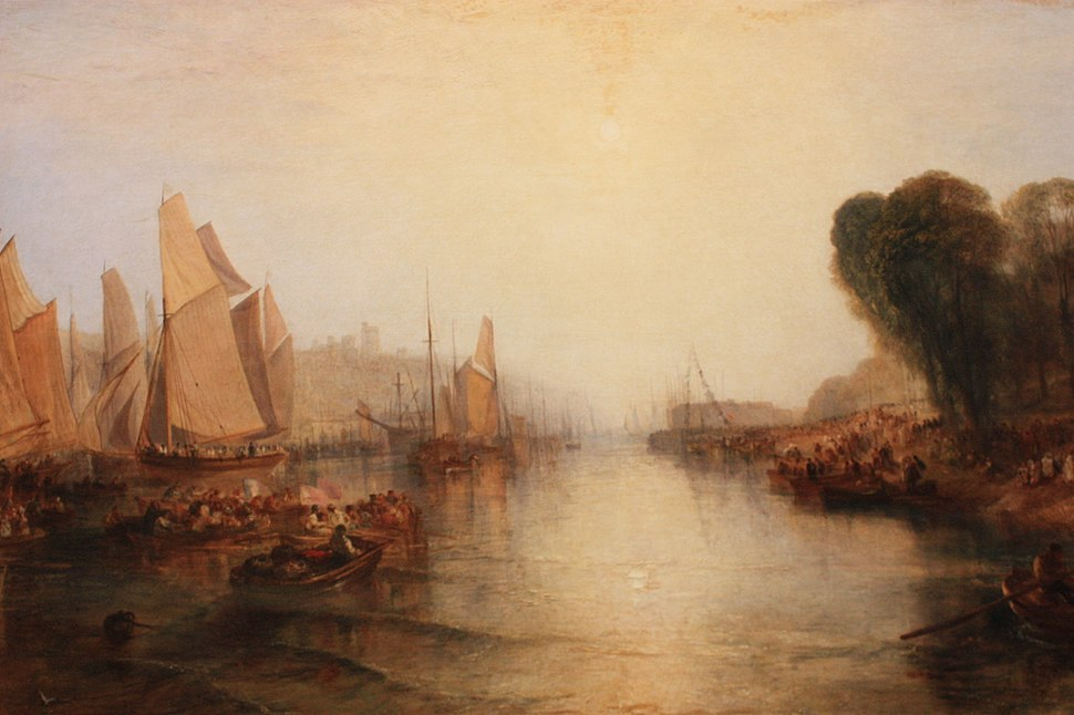 East Cowes Castle, by J M W Turner 1827
