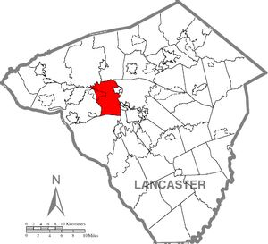 East Hempfield Township, Lancaster County, Pennsylvania - Image: East Hempfield Township, Lancaster County Highlighted