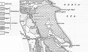 East Riding of Yorkshire - Solid geology of the East Riding