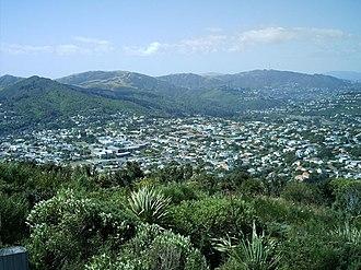 Karori - City-end Karori from Wrights Hill summit