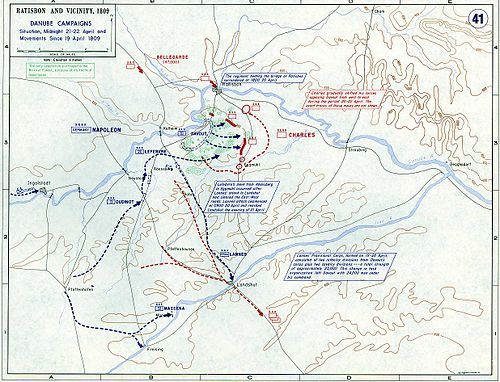 The Landshut Maneuver and the expulsion of Austrian forces from Bavaria. Eckmuhl April 21.jpg