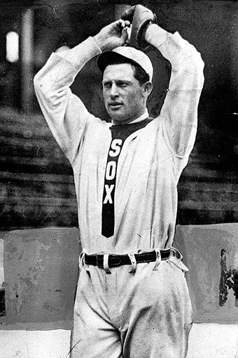 Ed Walsh pitching