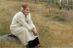 Larin Paraske - Edelfelt's 1893 portrait of Paraske
