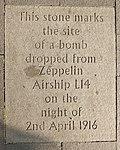 Edinburgh Grassmarket Zeppelin Flagstone.JPG