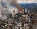 Eero Järnefelt (1863-1937)- Under the Yoke (Burning the Brushwood) - Raatajat rahanalaiset - Kaski - Trälar under penningen - Sved (31948645643).jpg