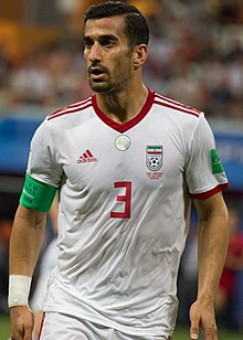 Ehsan Hajsafi at IRNPOR match 2018 FIFA World Cup.jpg