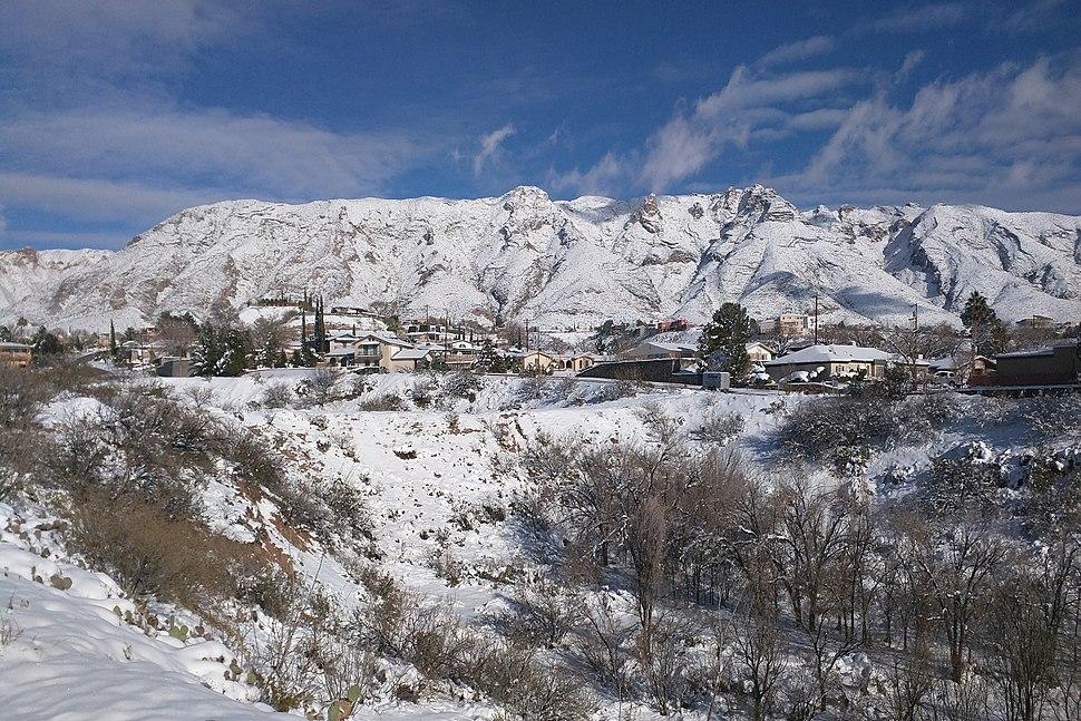 El Paso west side snow