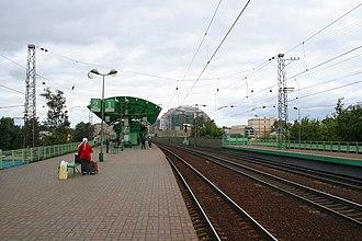 Elektrozavodskaya railway station - Image: Elektrozavodskaya station