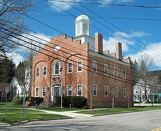 Cattaraugus County, New York - Image: Ellicottville Town Hall Jun 09