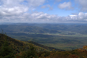 Elliott Knob - View looking west from the summit of Elliott Knob