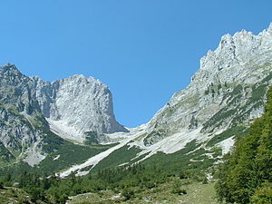 Ellmauer Tor - The Ellmauer Tor from the south