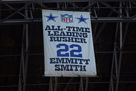 Fan banner honoring the NFL s all-time leading rusher banner at Texas  Stadium. 407f5eb7b58b