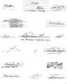 En esta imagen hemos reunido las diferentes firmas que usaba Lil Milagro. Algunas de ellas incluso corresponde a seudónimos.jpg