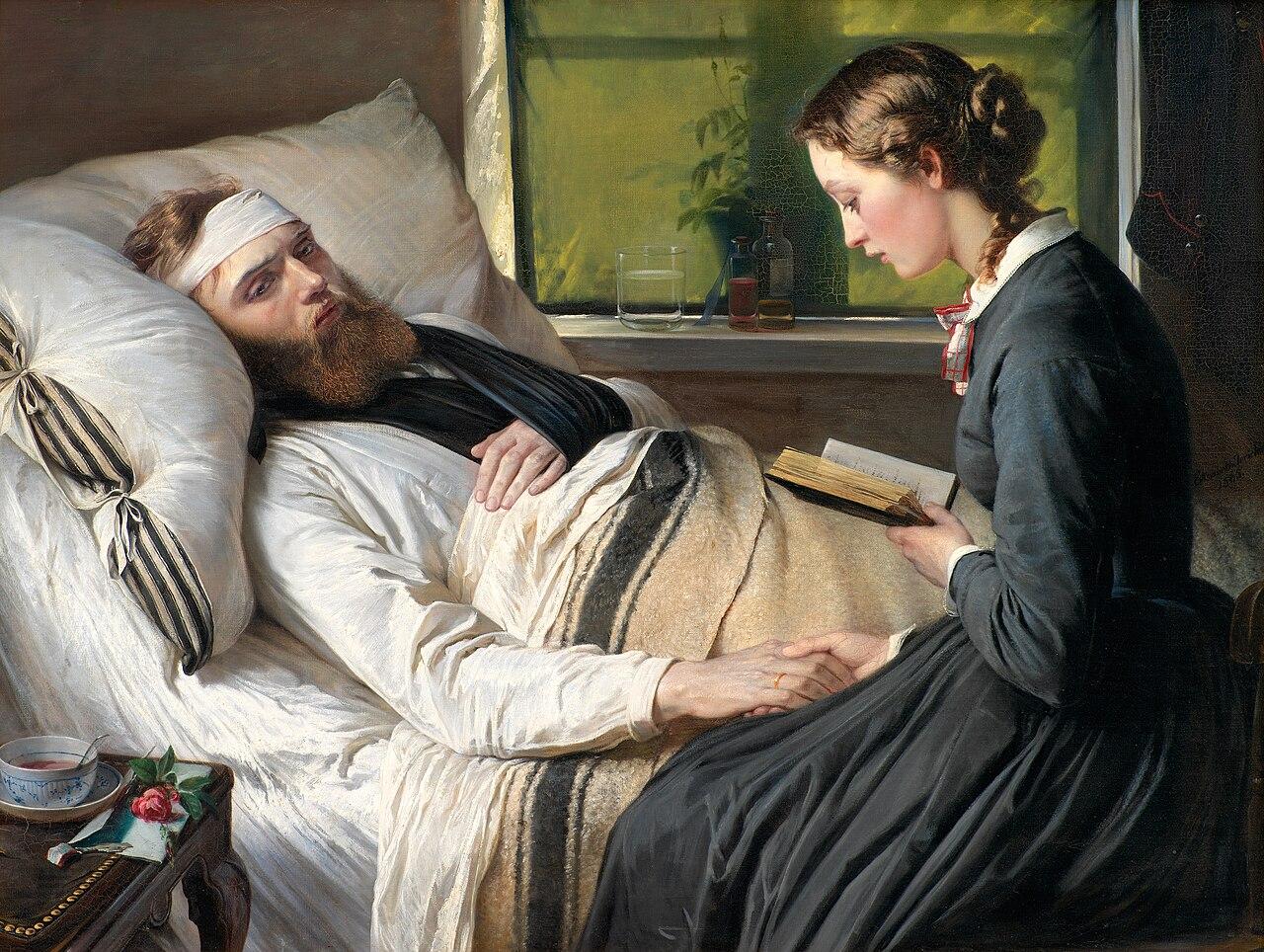 En såret dansk kriger (картина 1865 года) .jpg