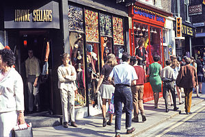 Carnaby Street - Irvine Sellars and other boutiques, Carnaby Street, 1968.