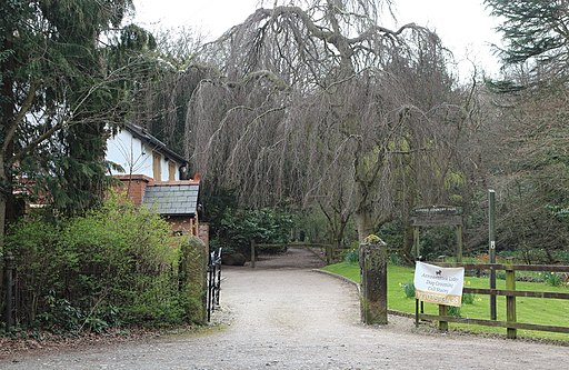 Entrance to Arrowe Country Park, Arrowe Brook Road