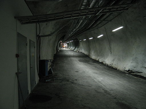 Entrance tunnel for Svalbard Global Seed Vault Spiżarnia