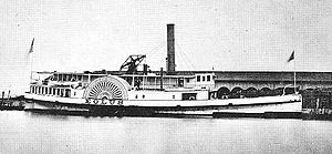 Baltimore Steam Packet Company - The Old Bay Line's Eolus in 1869