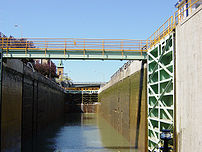 Modern Erie Canal lock at the Niagra Escarpmen...