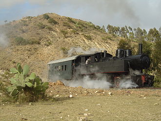 Mogadishu–Villabruzzi Railway - A class 440 locomotive, similar to those used in the Somali railway