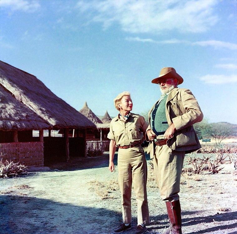 Ernest and Mary Hemingway on safari, 1953-54