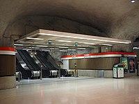 Escalators at Kamppi metro station in Helsinki