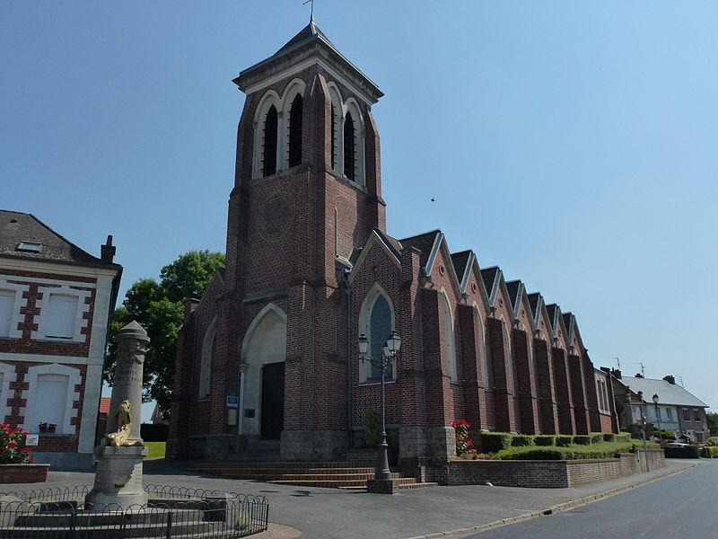 Estreux (Nord, Fr) église