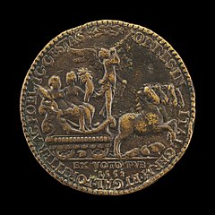 Triumphal Procession of Fame with Abundance and Victory [reverse]
