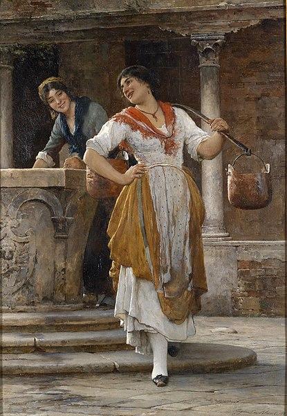 File:Eugen von Blaas Die Wasserträgerin 1887.jpg