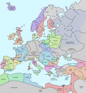 14th Century Map Of Europe.Late Middle Ages Wikipedia