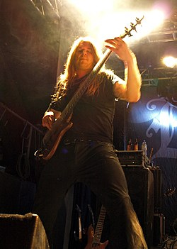 Jari Kainulainen with Evergrey live in Nosturi, 2008