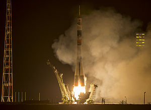 Soyuz TMA-16M - Image: Expedition 43 Launch (201503280001HQ)