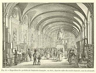 Exposition des produits de l'industrie française - 1819 exposition, ground floor of the Louvre, under the colonnade