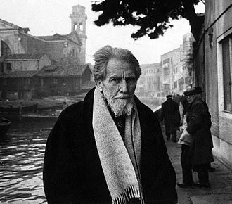 Imagism - The expatriate American poet Ezra Pound collected eleven poets in the first anthology of Imagist poetry, Des Imagistes (1914). (Pound is pictured in 1963.)