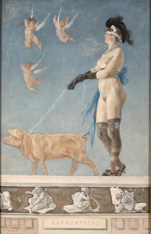 Félicien Rops - Pornokratès - 1878