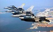 F-16s over Kunsan City South Korea