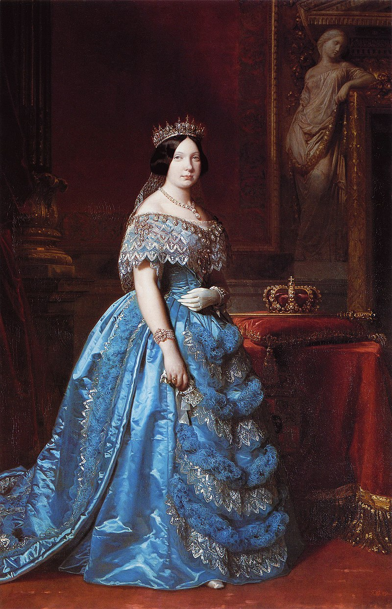 Ф. де Мадразо - 1850, Изабель II (Дворец Испании, Рома, 223 х 146 см) .jpg