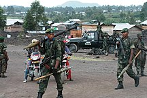 República Democrática del Congo-Fuerzas Armadas-FARDC and MONUSCO reinforce their presence in and around Goma following a second day (21 May 2013) of clashes between M23 and National troops. (8782972992)