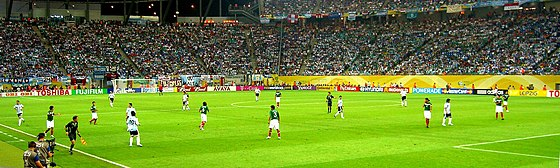 Mexico against Argentina at the 2006 FIFA World Cup. FIFA World Cup 2006 - ARG vs MEX.jpg