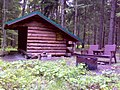 FLT M23 2.4 mi - 0.4 on blue trail - Perkins Pond Lean-to, 8x12' interior, fire ring, chair benches, ADA privy, seasonal creek nearby - panoramio.jpg