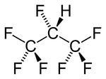 The structure of 1,1,1,2,3,3,3-heptafluoropropane