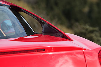 Ferrari 599 - The C-pillar shaped like an arch guided air to the rear section to help keep the car on the ground