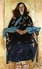 Kobieta w kimonie