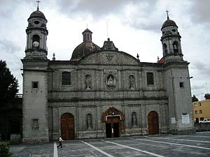 Church of La Soledad, Mexico City - Facade of the church
