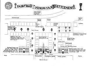 Fairfield Moravian Church - Historical sketch plan of Fairfield Moravian Settlement