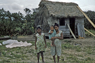 Miskito people - A family of Miskito people living along the Prinzapolka river in Nicaragua