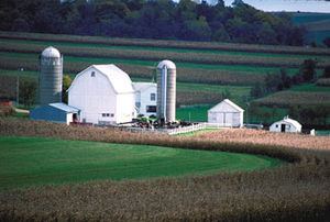 Green County, Wisconsin - A farm in Green County, Wisconsin