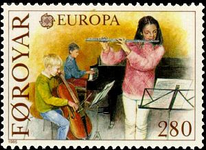 Faroe stamp 110 europe cept 1985 - year of the...