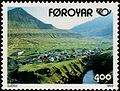 Faroe stamp 241 the village gjogv.jpg