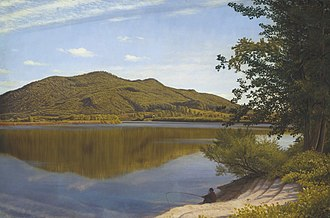 Holyoke, Massachusetts - Mount Tom, circa 1865, by Thomas Charles Farrer, oil on canvas, as seen at the National Gallery of Art